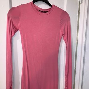 Pink long sleeve double lined dress
